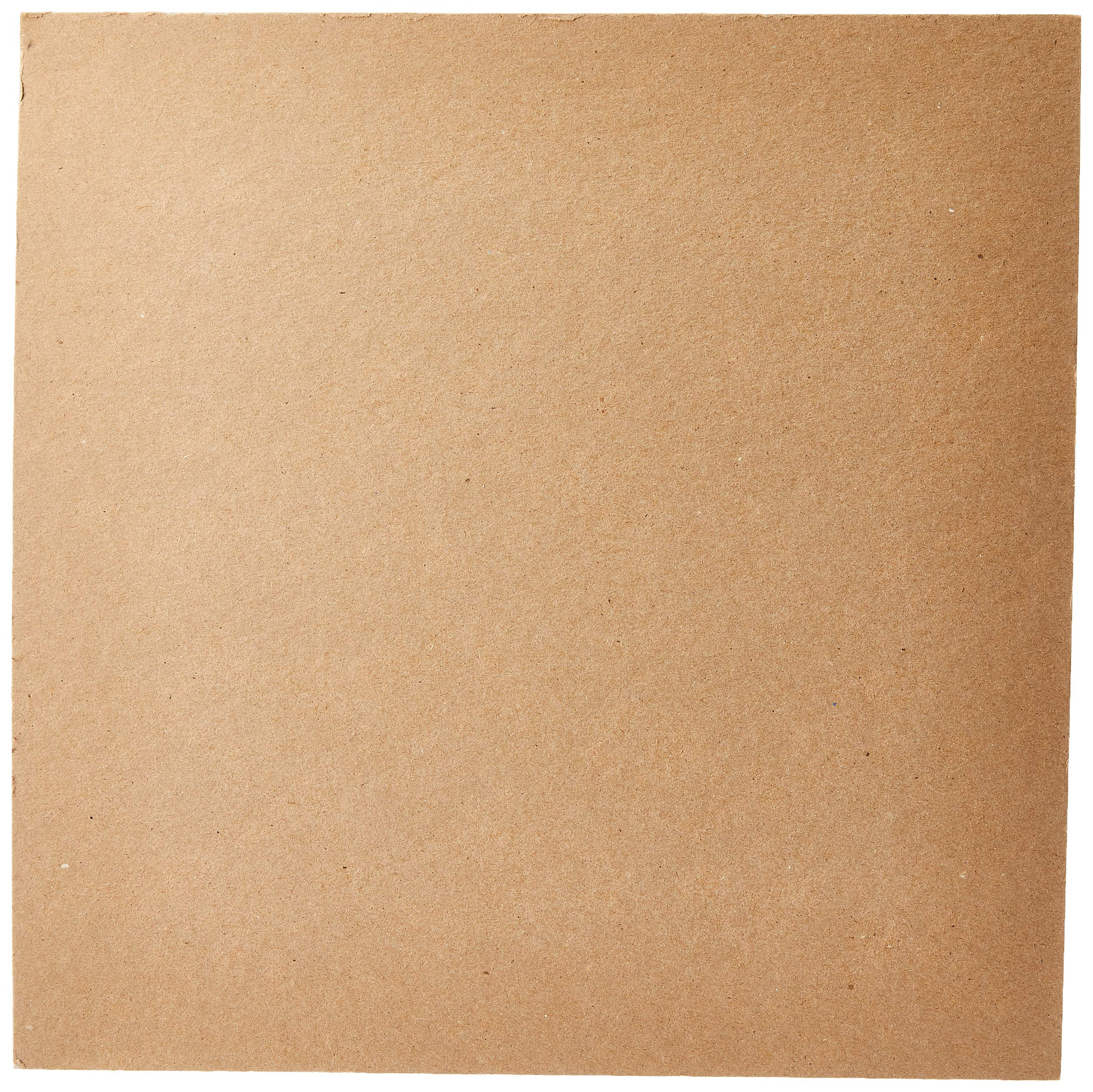 """Grafix Medium Weight Acid-Free 0.057"""" Chipboard Sheets, Create Three-Dimensional Embellishments for Cards, Papercrafts, Mixed Media, Home Décor, and More, 12 x 12, Natural, 25 Count"""