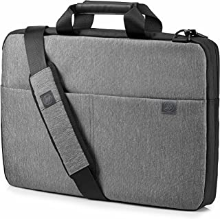 HP L6V67AA#ABB Signature Slim 14 inch Top Load Bag for Laptop With Audio Charging Port - Grey