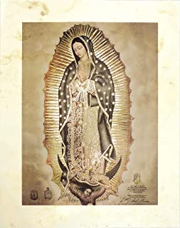 Artediseño piezas maestras Amate Paper Our Lady of Guadalupe (8