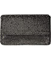 Jessica McClintock Ariella Sparkle Mesh Fold-Over Flap Clutch