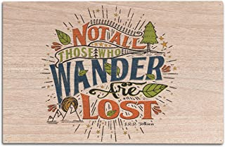 Quote - Not All Those Who Wander are Lost (10x15 Wood Wall Sign, Wall Decor Ready to Hang)