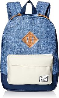 Supply Co. Patrimonio niños mochila, Limoges Crosshatch/Pelican/Navy/Tan Leather (azul) - 10313-01395-OS