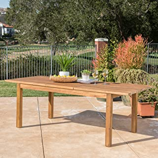 acacia wood outdoor side table