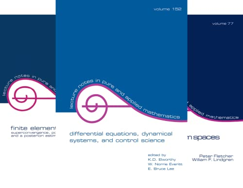 Lecture Notes in Pure and Applied Mathematics (51-99) (49 Book Series)