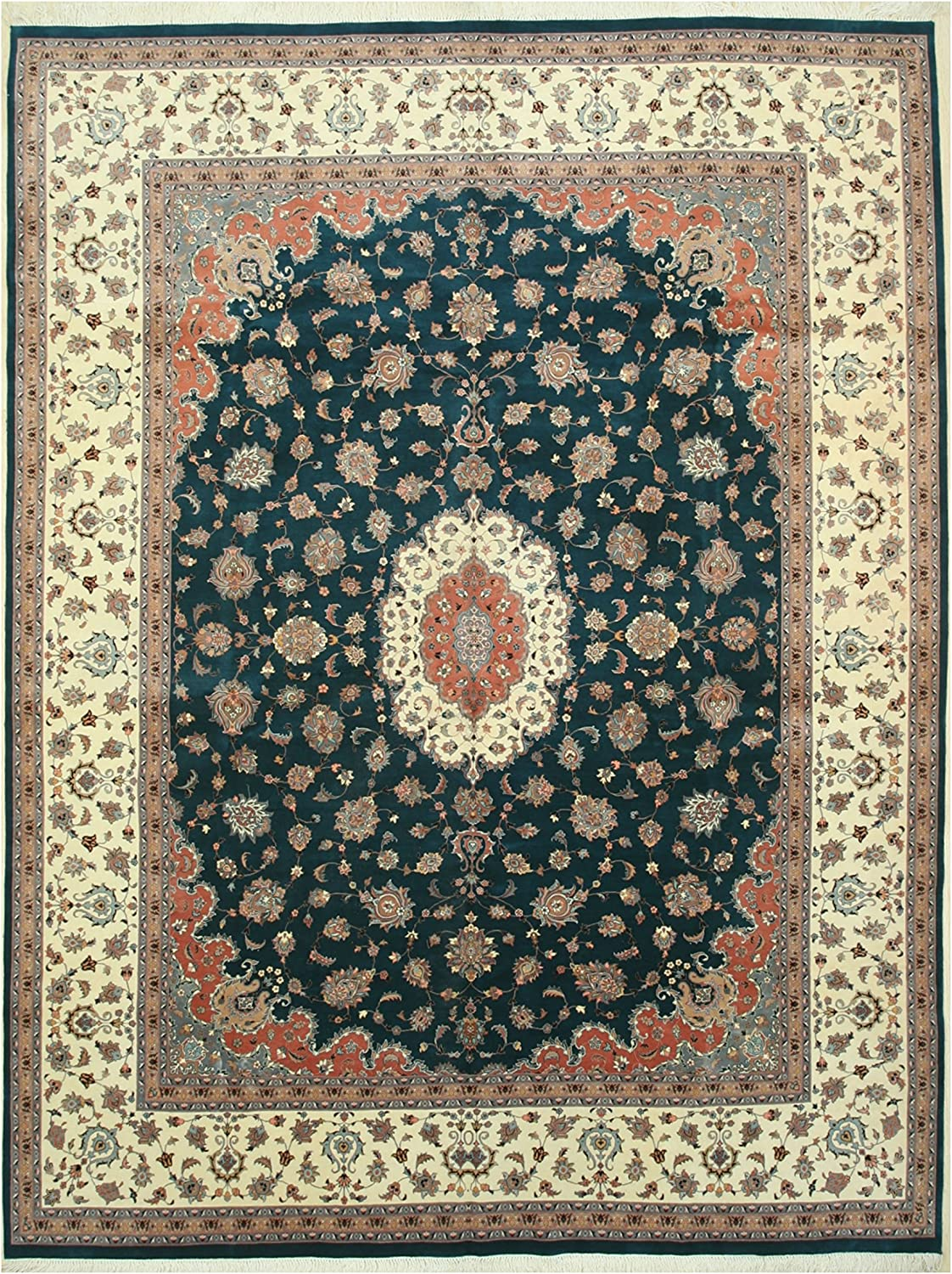 EORC BA8900 Hand-Knotted Wool Pak-Persian Bargain sale 14'10 Fort Worth Mall Rug Gre x 11'2