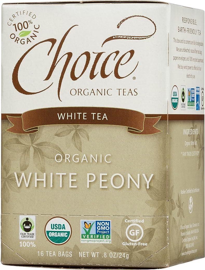 周囲機関車バイパス海外直送品Choice Organic Teas White Peony Tea, 16 BAGS