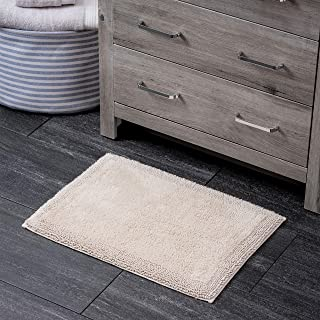 Welhome 100% Turkish Cotton Bathroom Rug - Luxurious - Soft & Thick - Non Slip Backing - Highly Absorbent - Hotel Spa Collection - 17