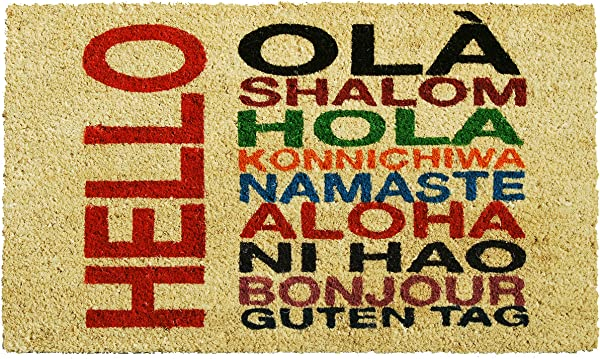 Calloway Mills 121381729 International Hello Doormat 17 X 29 Multicolor