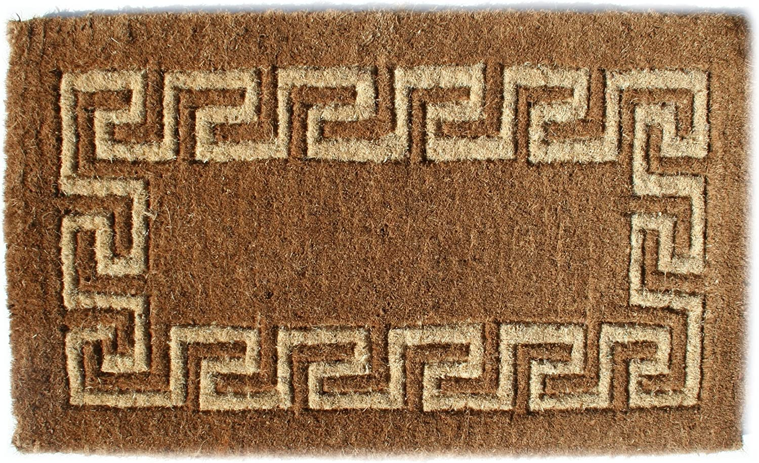 Imports Decor Coir Doormat, Greek Key, 18-Inch by 30-Inch