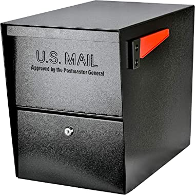 Mail Boss 7206 Package Master Curbside Locking Security Mailbox | Black