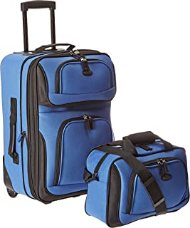 U.S Traveler Rio Two Piece Expandable Carry-on Luggage...
