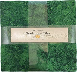 Stonehenge Gradations Brights Rainforest Stone Tiles 42 10-inch Squares Layer Cake Northcott