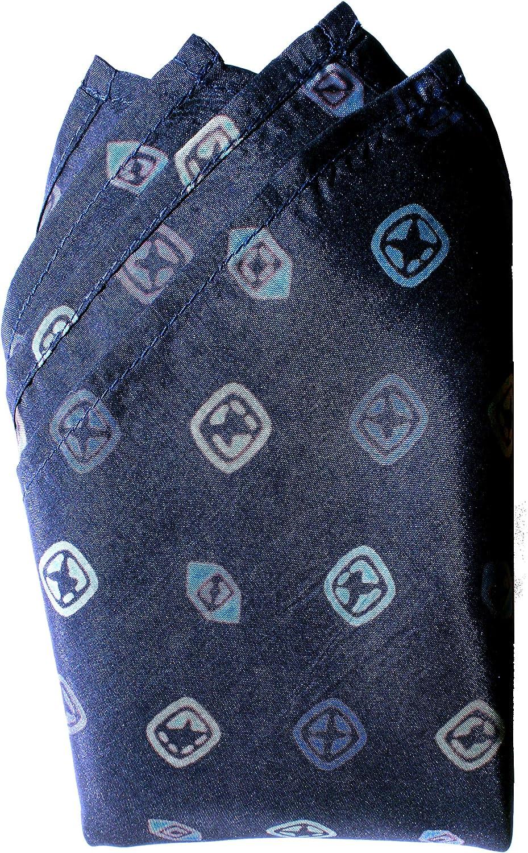 Navy Pops Silk Handkerchief - Full-Sized 16
