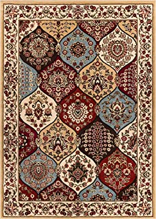 Well Woven Barclay Wentworth Panel Ivory Traditional Area Rug 7'10