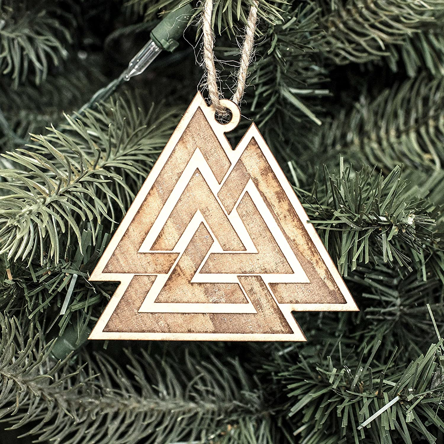 sold out Ornament - Valknut- Raw 3x3in Wood online shopping