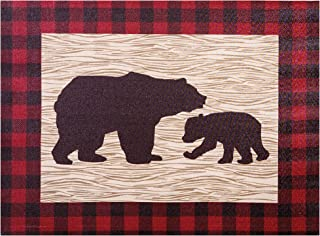 Trend Lab Northwoods Bear Canvas Wall Art, Tan/Red