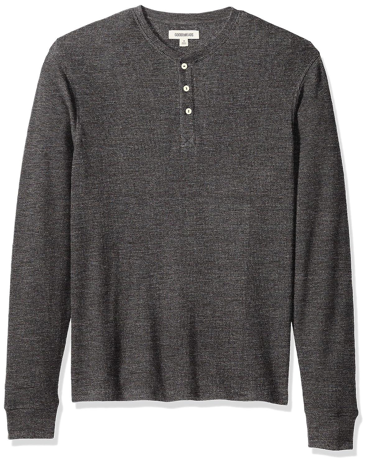 Amazon Brand - Goodthreads Men's Long-Sleeve Slub Thermal Henley