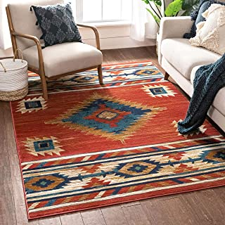 "Well Woven Lizette Red Traditional Medallion Area Rug 5×7 (5'3"" x 7'3"")"