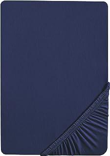 Biberna 7155/290/087, Drap housse en jersey stretch 100% coton, très doux et extensible, pour un lit de 180 x 200 cm à 200...