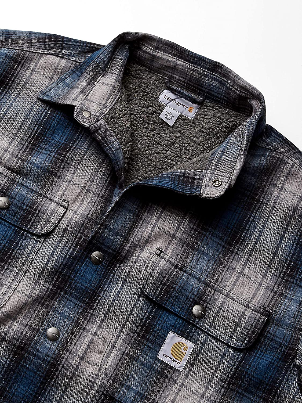 Carhartt Mens Hubbard Sherpa Lined Shirt Jac