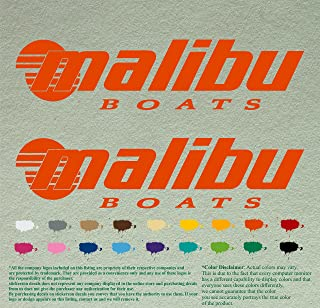 Pair of Malibu Boats Outboards Decals Vinyl Stickers Boat Outboard Motor Lot of 2 (36
