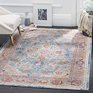 Safavieh Aria Collection Abstract Area Rug, 9' x 12', Blue/Orange