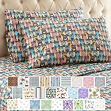 Thermee Micro Flannel Sheet Set, Cat Party, California King