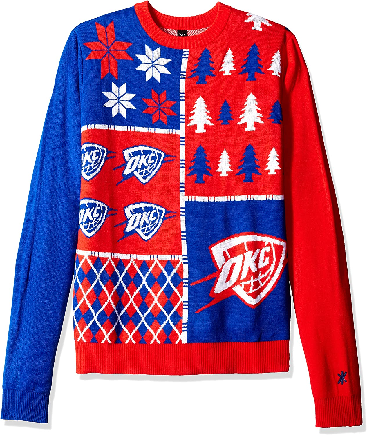 Popular brand in the world Oklahoma City Thunder Cheap sale Busy Ugly Block Sweater Large