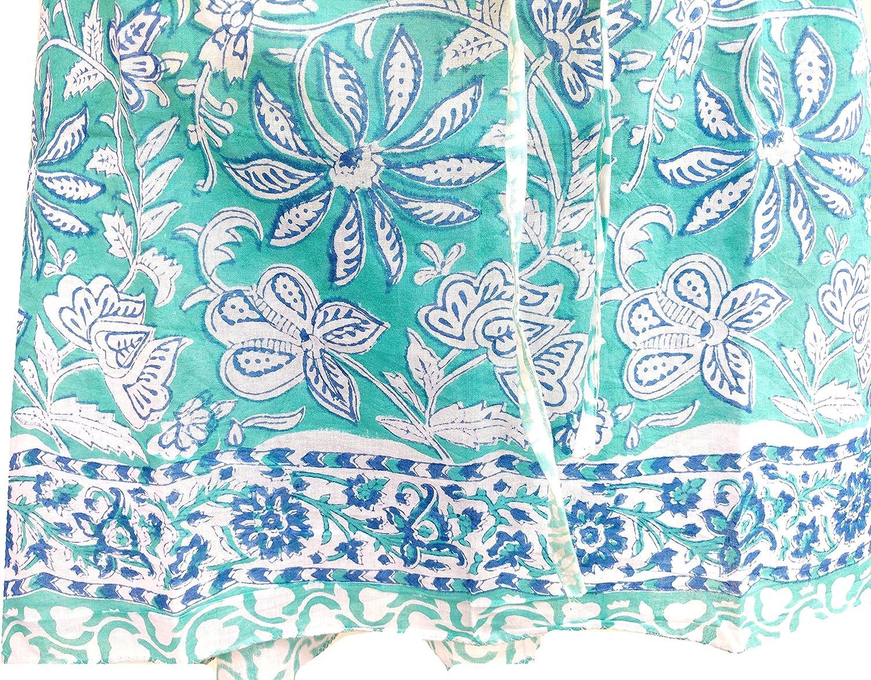 Rastogi Handicrafts 100% Cotton Hand Block Print Swimsuit Cover-up Beach Caftan Women's Print Kaftan 13