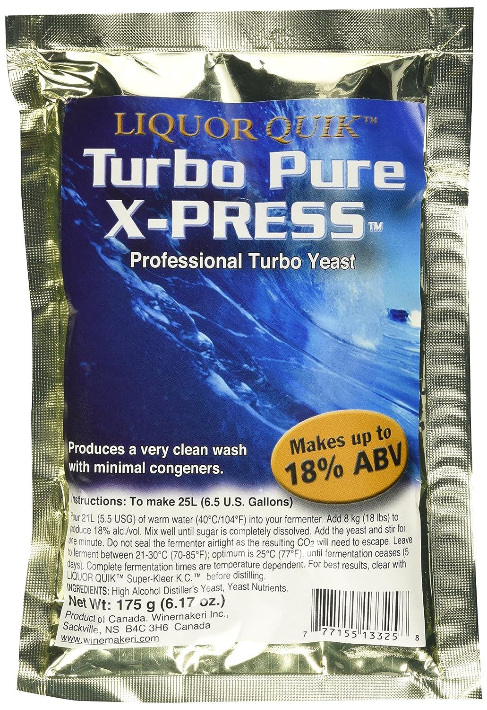 Turbo Pure X-Press 18% Bargain Ranking TOP4 sale Distillers 175g 6.17oz. Yeast Net. Wt.