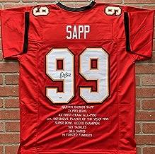 Warren Sapp autograph signed jersey NFL Tampa Bay Buccaneers PSA Miami Hurricane