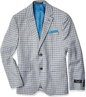 Mens Sports Coat, Medium Blue Check, 40 Regular