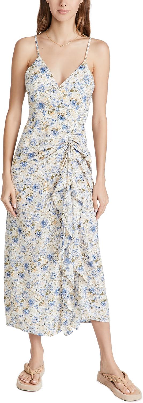 En Saison Women's Floral Midi Slip Dress