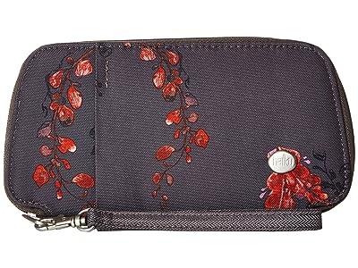 Haiku Fortitude (Gray Wisteria Print) Handbags