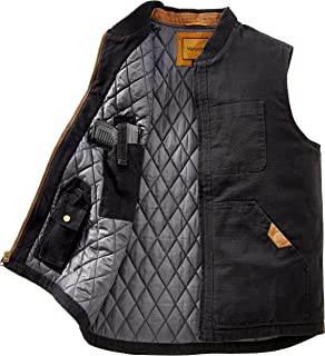 Concealed Carry Vest for Men - Heavy Duty Canvas - Conceal Carry Pockets