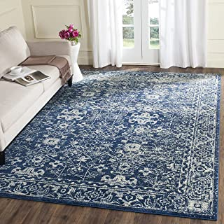 Safavieh Evoke Collection EVK270A Vintage Navy and Ivory Area Rug (11' x 15')