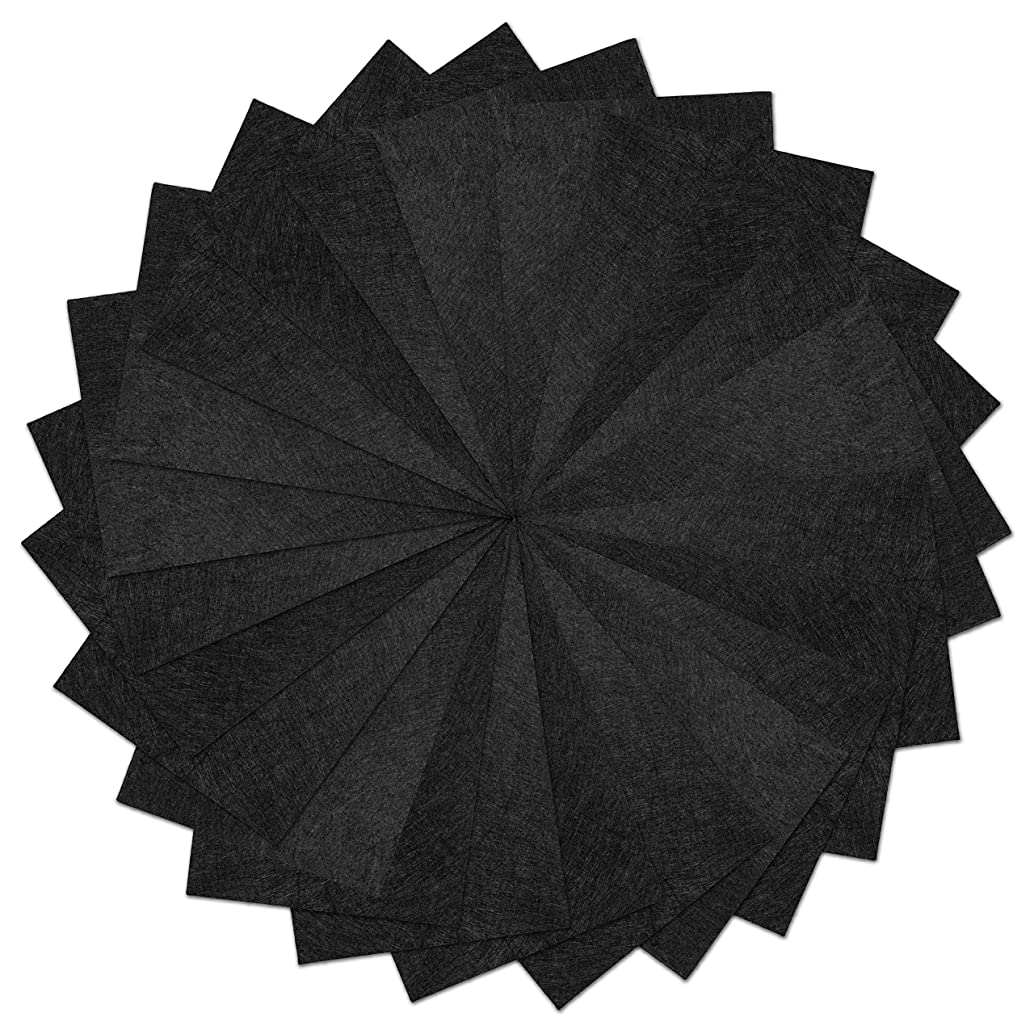 25 Pack - Self Adhesive Black Crafting Felt Fabric - 8 x 12 Inches - Perfect for Holiday Crafts