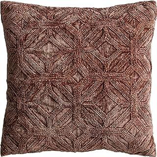 Frank Hudson Velvet Washed Cushion, Brick, 450 x 450mm