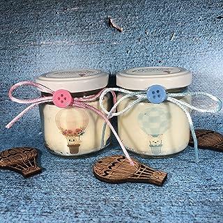 Battesimo e Nascita 25 candele di cera di soia bomboniere Mongolfiere Bomboniera Segnaposto ricordo ospiti