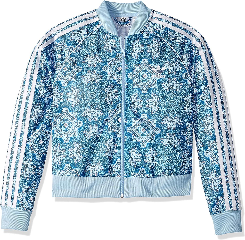 adidas Originals Girls' Big Cc Crop Super Star Track Jacket