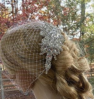 Bridal Wedding Birdcage Bandeau Veil