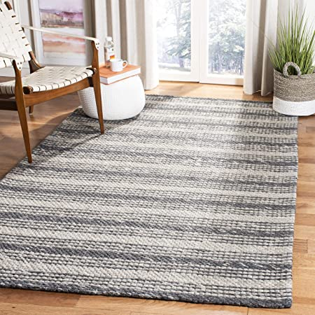 Amazon Com Safavieh Marbella Collection Mrb522h Handmade Premium Wool Area Rug 8 X 10 Grey Chocolate Furniture Decor