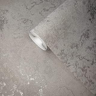 113 sq.ft Rolls Embossed Slavyanski Modern Plain wallcoverings Faux Plaster Effect Vinyl Non-Woven Wallpaper Silver Gray Metallic & Gold Glitter Textured strippable 3D coverings Paste The Wall only