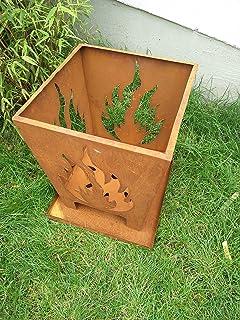 Zen Man Edelrost Garten Feuerschale Rost Feuerschale Feuerkorb aus Metall Rostig Feuerschale H4840cm 1mm 101527