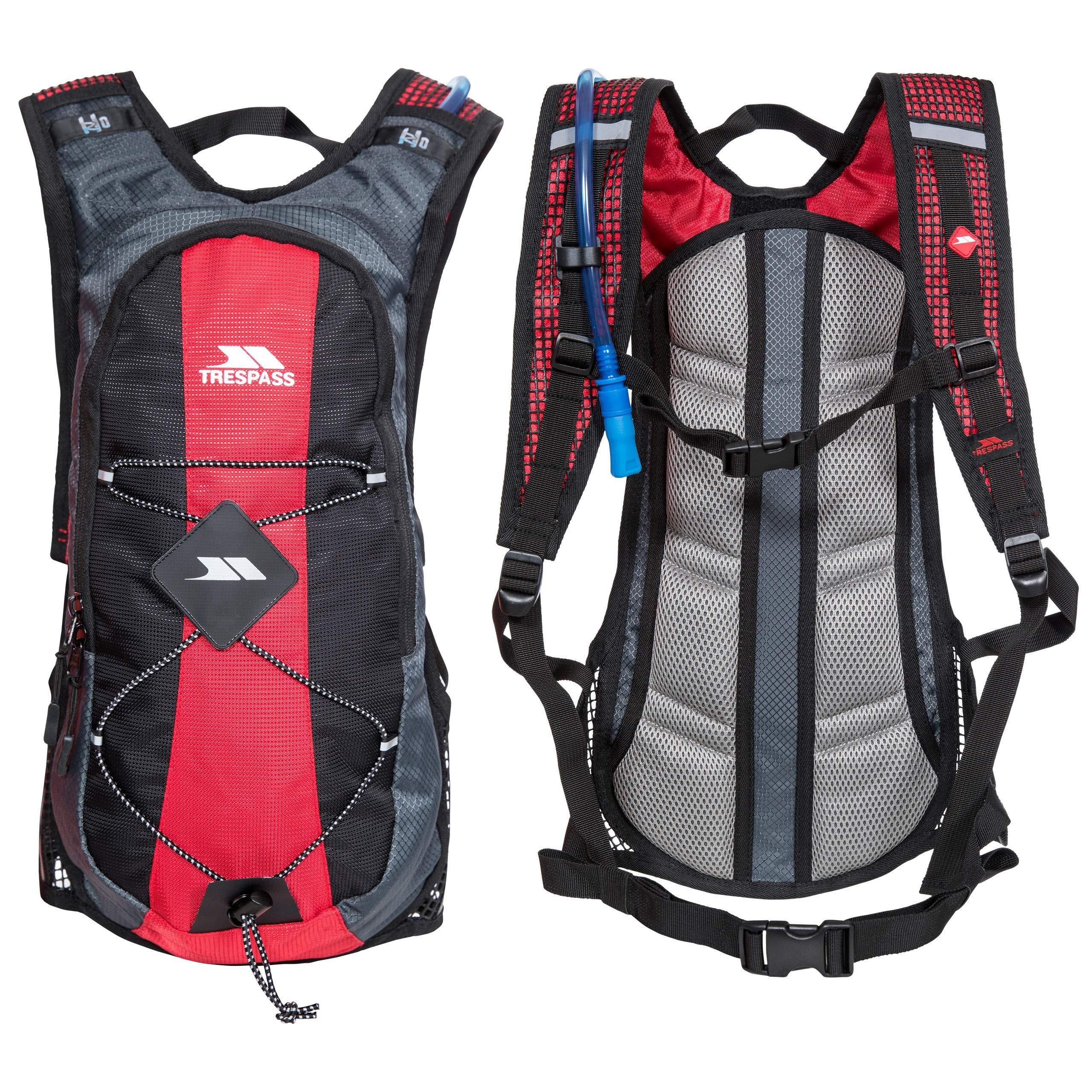 Trespass Rucksack 15 L mit Hüftgurt und 2 L Wasserreservoir/ Trinkblase/ Hydrat
