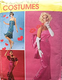 McCall's 3385 Misses Glamour Costumes: Flapper, Marilyn Monroe, Spanish Dancer Sewing Pattern Size 14-16-18-20