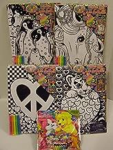 LISA FRANK - Bundle of 5 Items, 4 Velvet Art Kits Each with 4 Markers & Bonus Item!
