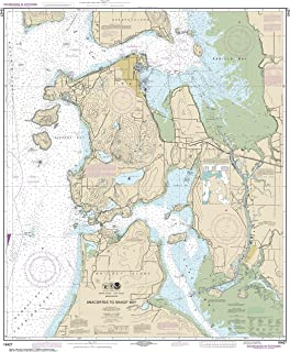 MapHouse NOAA Chart 18427 Anacortes to Skagit Bay: 41.21 X 33.84 Paper Chart