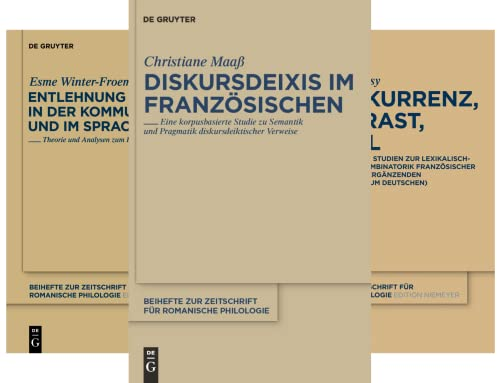 Beihefte zur Zeitschrift für romanische Philologie (Reihe in 31 Bänden)