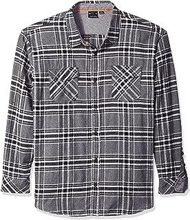 Jofemuho Men Button Down Print Spread Collar Summer Business Dress Shirts